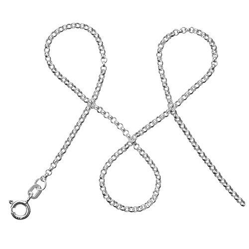modabilé Damen Erbskette Tender 45cm Inkl. Etui | Halskette aus 925 Sterling Silber | Silberkette Ohne Anhänger, 2mm Breit | Zart, Fein & Schlicht | Made in Germany