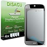 4 x DISAGU Lámina blindada para pantallas Acer Liquid Jade S55 contra roturas (Intencionadamente es más pequeña que la pantalla ya que esta es curva)