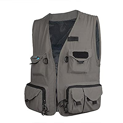 Dr.Fish Fly Fishing Mesh Vest Waistcoat Mutil-Pocket Quick Dry Canoe Kayak L/XL/XXL by Dr.Fish