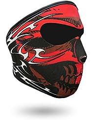 iXium Bandana cagoule masque visage en néoprène Sports d'extérieur BMX Moto biker Quad Masques de ski Filtre–Design Crâne tribal rouge