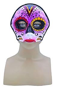 Bristol Novelty Novelty-EM747 EM747 - Máscara estilo día de los muertos, multicolor, unisex, adulto, talla única
