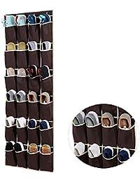 1pc Durante la puerta colgando de zapatos Organizador zapatilla de deporte rack artículos pequeños Claro bolso