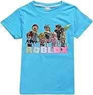 JIAQUN Roblox - Camiseta de manga corta unisex con estampado de Roblox para niños y niñas
