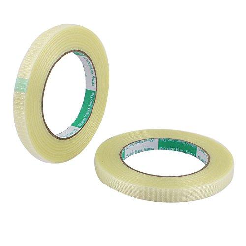 sourcingmapr-2-piezas-de-12-mm-de-altura-50m-longitud-larga-adhesiva-aislante-rejilla-de-fibra-de-vi
