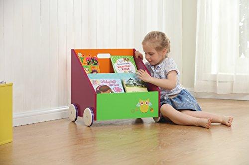 Labebe Kinder Bücherregal mit Rädern | Bücherregal Kinder