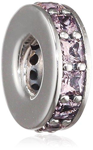 Pandora Damen-Bead-Zwischenelement Rosafarbene Unendlichkeit 925 Silber Kristall rosa - 791724NBP