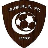 ليزرارتس لوحة جدارية خشبية، شعار نادي الهلال40*35سم، 3 ملم - BD311231