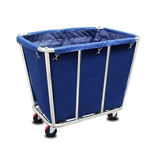Salon Trolleys Edelstahl Kegel Rollwagen Oxford Stoffbeutel Waschküche Hotel Schmutzige Kleidung Recovery Fahrzeug - 90x65x80 cm (Farbe : Blau, größe : 8 Tube)