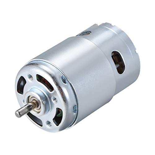 r 24 V 10.000 U/min, 1 A, magnetisch, Dual-Kugellager, runde Schaft für RC Boot Spielzeug Modell DIY Hobby ()