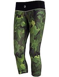 Nessi Damen 3/4 Leggings OSTK Laufhose Fitnesshose Atmungsaktiv Camo