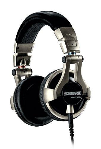 Shure SRH750DJ, geschlossener DJ-Kopfhörer / Over-ear, geräuschunterdrückend, faltbar, drehbare Ohrmuscheln, austauschbares Kabel, druckvoller Bass und erweiterte Höhen - 4