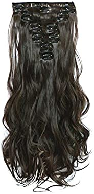 Fashion fluffy 12 sets long curly Hair Extension (can be permed and straightened) 1208-11
