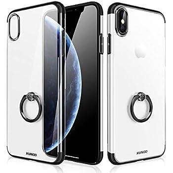 WINSHINE Coque pour iPhone XR 6.1 Pouces/iPhone 9 étui placage avec Anneau Boucle TPU Anti-Choc