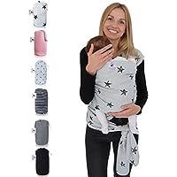 fastique Kids® Baby Pañuelo Portabebés–Elástico para Früh de y Recién Nacidos Niños Pequeños–Incluye instrucciones de Baby Wrap Carrier