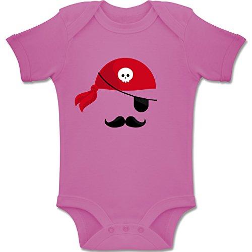(Shirtracer Karneval und Fasching Baby - Pirat Kostüm - 3-6 Monate - Pink - BZ10 - Baby Body Kurzarm Jungen Mädchen)