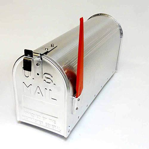 U.S. Mailbox - amerikanischer Briefkasten - Zeitungsbox - Aluminium - silber