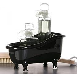 Casa Padrino Designer Badewanne aus Keramik schwarz Länge: 25 cm, Höhe: 14 cm - Deko Freistehende Badewanne