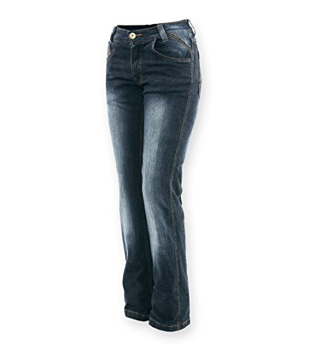 Bores Live Jeans Damen Motorradhose, Blau, Größe 27