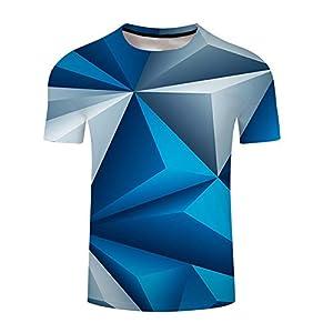 ZzSTX 3D T Shirt Farbdruck Männer Frauen T-Shirts Sommer Kurzarm T-Shirt Homme Unterwäsche