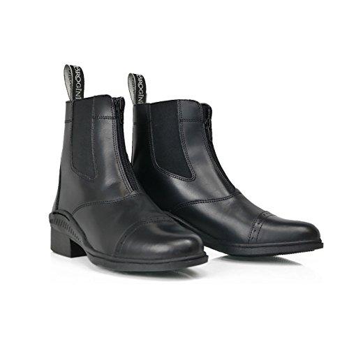 Brogini Tivoli Schuhe mit Reißverschluss schwarz - schwarz