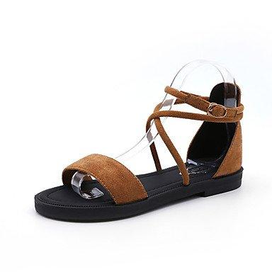 LQXZM Women's Sandals Summer Mary Jane Fleece Outdoor Dress Casual Low Heel Zipper Walking,Khaki,US8 / EU39 / UK6 / CN39