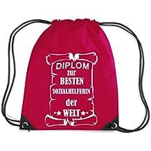 Camiseta stown Premium gymsac Diploma para mejores helferin Social del Mundo, rojo