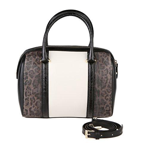 Cavalli Roberto Schwarz Class Mod 26x20x14 Handtasche Cm Weiß Optisches C63PWCGJ0042F36 Frau dBCwBp
