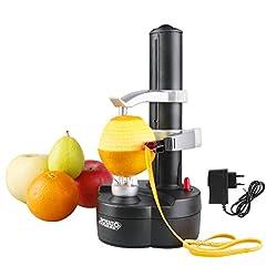 Idea Regalo - Vicloon Peeler di Frutta con Adattatore,Multifunzione Pela Frutta e Verdura Elettrico,Automatico Sbuccia Pela Patate