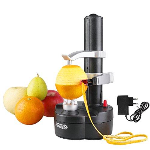 Vicloon Electric Peeler, Kartoffelschäler, Elektrischer Apfelschäler Gemüseschäler für Obst & Gemüse, Edelstahl-Klinge (Schwarz Enthalt Aufladeeinheits) (Prep-manuelle)