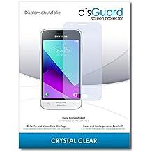 [2 Unidades] Samsung Galaxy J1 Mini Prime Protector de Pantalla disGuard® [Crystal Clear] Cristal, Transparente, Invisible / Anti-Arañazos, Anti-Burbujas, Anti-Huella Dactilar, Protección contra Arañazos / Película Protectora
