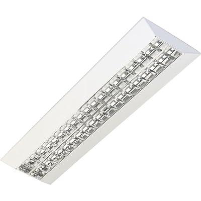 Rasterleuchte, Anbauleuchte, Rasteranbauleuchte, Bürolampe, 2x35/49/80W, BAP, Flach, Deckenleuchte, Bürobeleuchtung von TEUTO LICHT auf Lampenhans.de