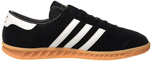 adidas Originals Hamburg, Baskets Basses Homme Noir (Core Black/Ftwr White/Gum)