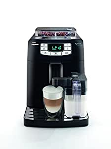 Saeco HD8753/11 Intelia Kaffeevollautomat (Keramikmahlwerk, Milchbehälter) schwarz