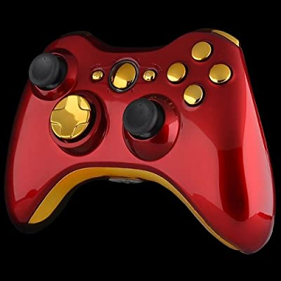 Official Xbox 360 Wireless Controller - Oxblood Red with Gold Buttons