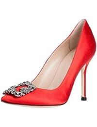 Arc-en-Ciel los zapatos de las mujeres de las bombas de tacón alto del dedo del pie redondo