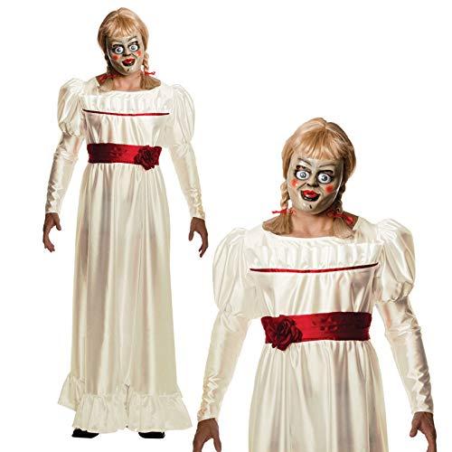 B-Creative Mens die Zaubern Annabelle Halloween Horror Puppe ausgefallene (Annabelle Puppe Halloween Kostüm)