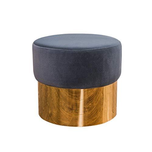 Repose-Pieds Rétro Salon Canapé Tabouret en Daim Tabouret Porte Changement Banc De Chaussures Style Européen Hauteur 36 × Largeur 42cm GW (Couleur : Gray)