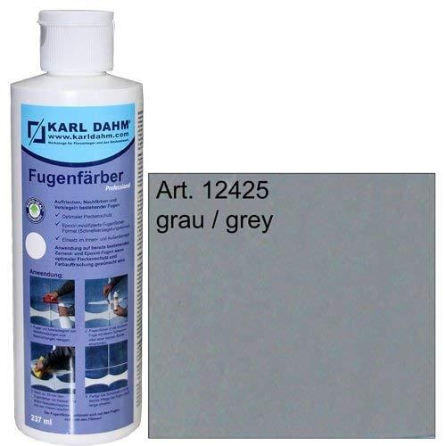 Fugenfärber für frische saubere Fugen, verschiedene Farben zur Fugenreparatur, Colorieren und Versiegeln (grau) 12425
