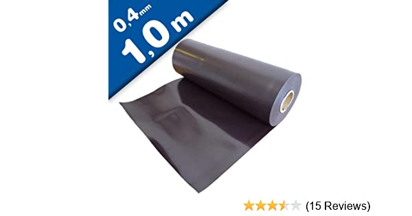 unbeschichtet Magnetfolie Magnetband Magnetfolie 0,4mm x 620mm Meterware