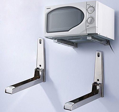 Mikrowelle Regal Wandhalterung (New Faltbare Edelstahl 304Stretch Regal Halterung Rack für Mikrowelle Wandhalterung)