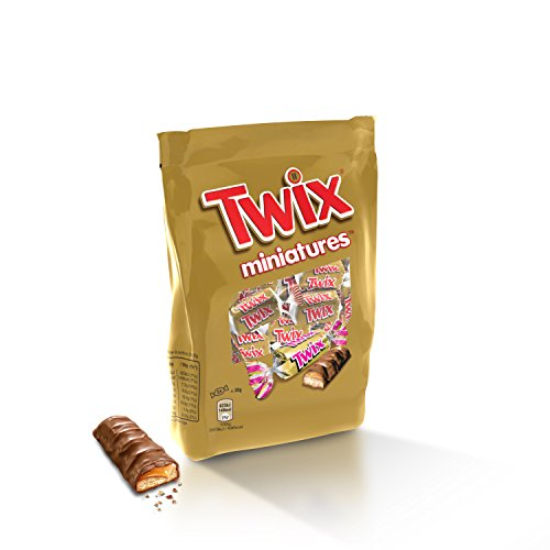 Twix Miniatures Chocolat au Lait/Biscuit/Caramel 130 g Pack de 14
