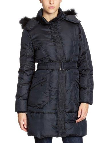 GAS Damen Daunenmantel (Lang) PL5000 421180 HOLFRID LONG A 0194Kapuze Schwarz (black 0200)