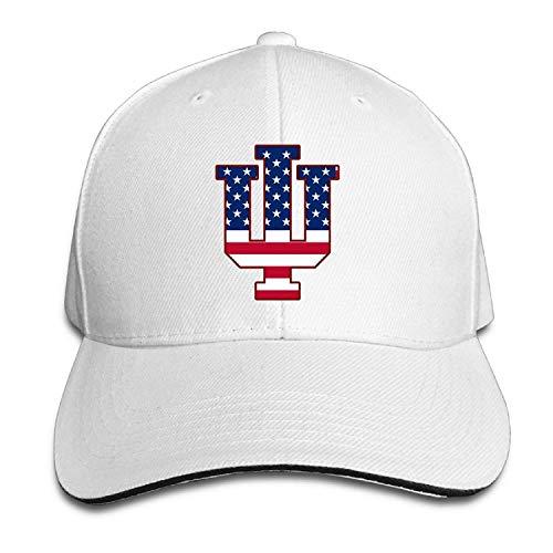 errterfte Nubia Indiana IU Flag University Bloomington Outdoor Hat Flex Fit Hat White Personalized Hat Comfortable Adjustable