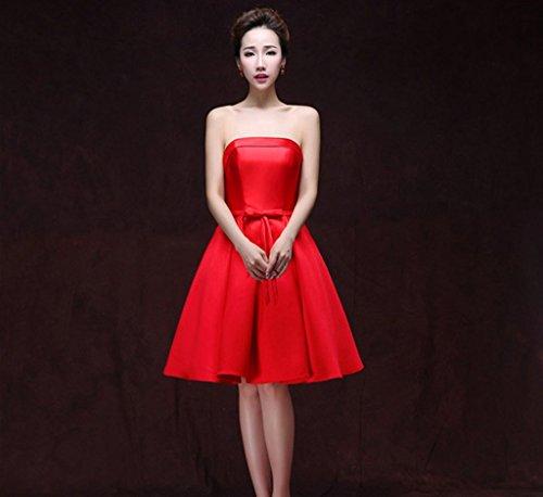 Drasawee - Robe - Trapèze - Femme Rouge