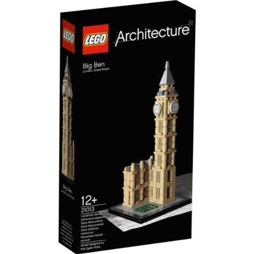 Top Lego® Architecture Big Ben - 21013 With Accompanying Lego Hsb Storage Bag Picture