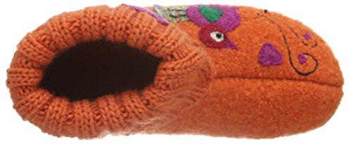 Haflinger Mädchen Sweety Hohe Hausschuhe Orange (Rost 43)