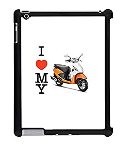 Fuson 2D Printed Pleasure Scooty Designer Back Case Cover for Apple iPad 3 - D782