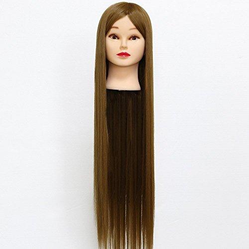 Neverland 30'' Cheveux Synthétiques Têtes d'Exercice avec Pince de Support Cosmétologie Mannequin Tête À Coiffer Femme