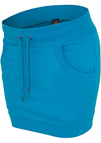 Ladies French Terry Skirt turquoise XS - Baumwolle Terry Skirt
