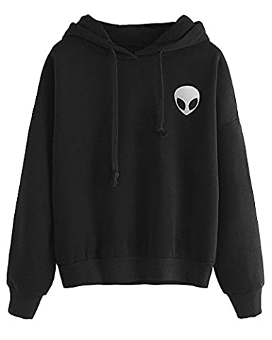 Tomwell Femme Automne Hiver Manches Longues Alien Pull Sweat à